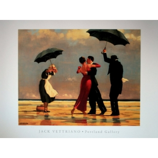 Stampa Jack Vettriano - The singing Butler