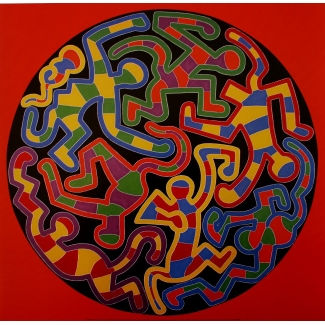 Affiche Keith Haring - Monkey Puzzle