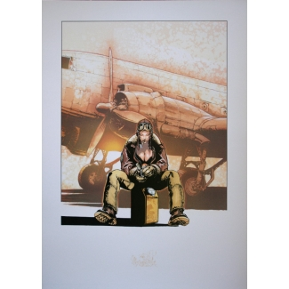 Olivier Vatine Art Print - Angela - Avion
