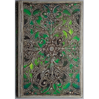 Journal diary Paperblanks - Silver Filigree : Esmeralda - MINI