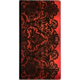 Paperblanks Journal diary - Lace Allure - Rouge Boudoir - SLIM