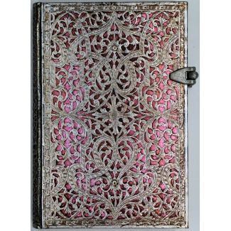 Journal diary Paperblanks - Silver Filigree : Blush Pink - MINI