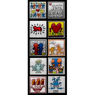 10 Keith Haring postcards