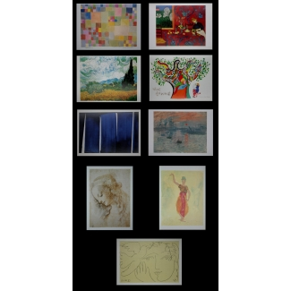 10 mixed artists postcards (Mixed n°2)