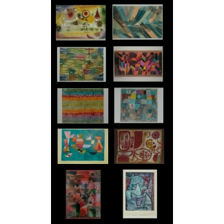 10 Paul Klee postcards
