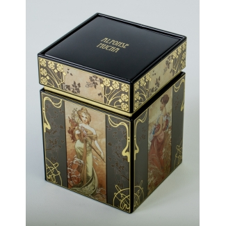 Alphonse Mucha tea box : The seasons
