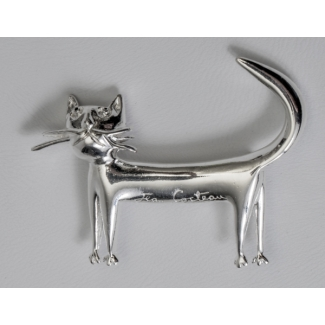 Jean Cocteau brooch : The cat (silver)