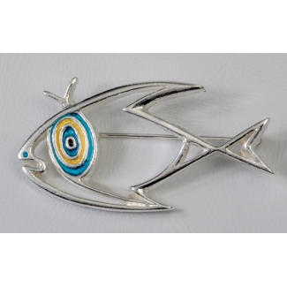Jean Cocteau brooch : The fish (Silver)