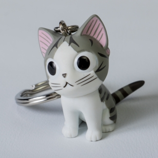 Chi's Sweet Home Cat Key Ring : Sitting
