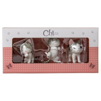 3 Figurines Chi : Ronron - Papatte - Debout