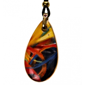 Pendentif en porcelaine Franz Marc : Fighting Shapes