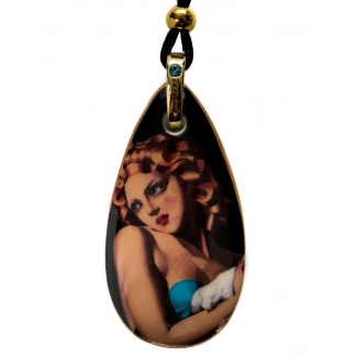 De Lempicka Porcelain pendant : Woman with Dove