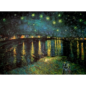 Van Gogh puzzle - Starry night over the Rhone