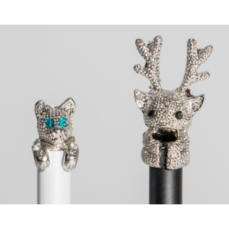 Ballpoint pens : Deer and dog n°1