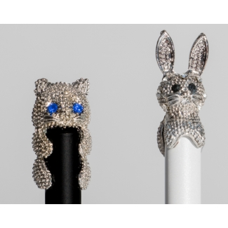Stylos bille animaux : Chat & Lapin n°2