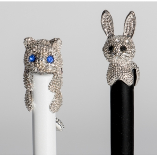 Stylos bille animaux : Chat & Lapin n°1
