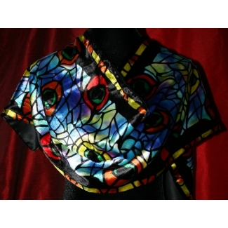 Silk velvet scarf - Tiffany - Paon (Originals)