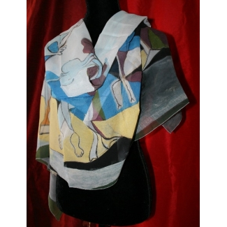 100% Stole Scarf - Pablo Picasso - Joy of Life