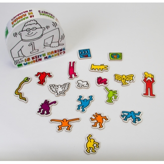 Magnets en bois Keith Haring