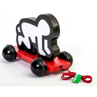Keith Haring Wooden Baby Pull Toy