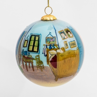 Glass ball christmas ornament : Vincent van Gogh's Bedroom at Arles