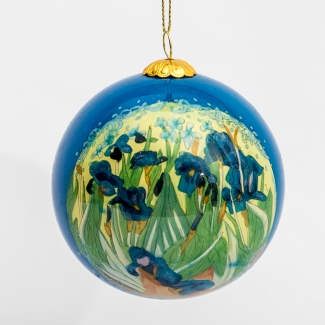Van Gogh glass ball christmas ornament : Irises