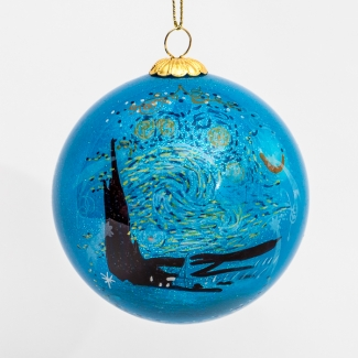Van Gogh glass ball christmas ornament : Starry night