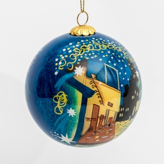 Van Gogh glass ball christmas ornament : Cafe Terrace at Night