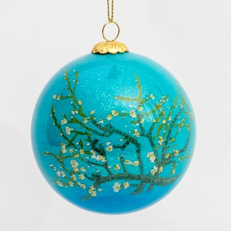 Van Gogh glass ball christmas ornament : Almond Branches in Bloom