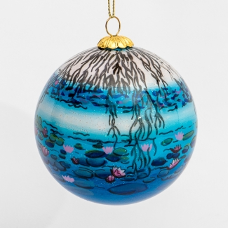 Claude Monet glass ball christmas ornament : Nympheas night