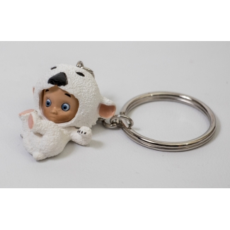Little Ours polaire Key Ring by Alberto Varanda