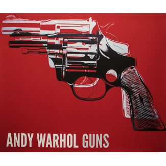 Stampa Andy Warhol - Gun (on red)