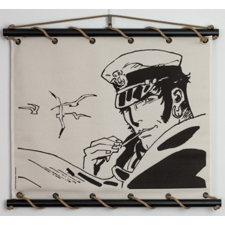 Corto Maltese Serigraph on Canvas - Conseils