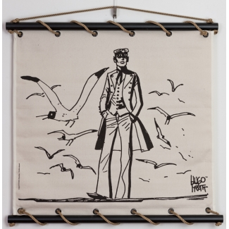 Corto Maltese Serigraph on Canvas - Mer du Nord