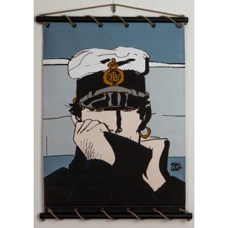 Corto Maltese Serigraph on Canvas - Corto pour Dior (blue)