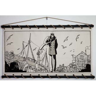 Corto Maltese Serigraph on Canvas - Alaska