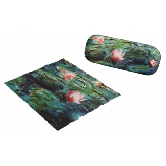 Claude Monet Eyesglass case - Evening water lilies