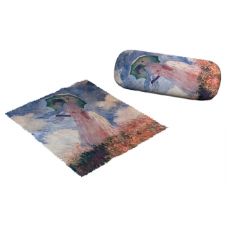 Claude Monet Eyesglass case - Lady with umbrella