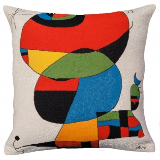 Joan Miro Cushion cover : Woman, bird, star