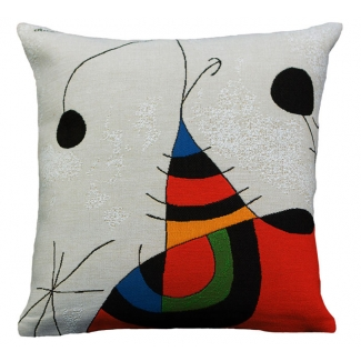 Joan Miro Cushion cover : Woman, bird, star (extrait n°2)