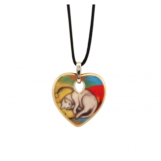 Franz Marc pendant : White cat sleeping