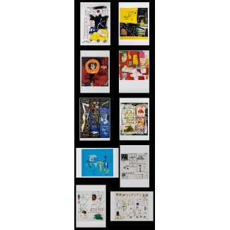 10 postcards Basquiat