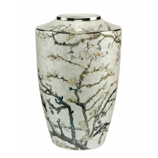 Van Gogh vase : Almond tree (white)