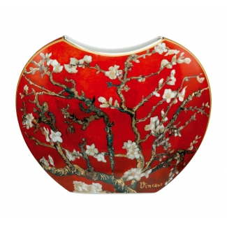 Van Gogh vase : Almond tree (red)