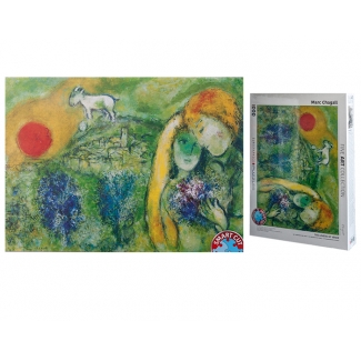 Marc Chagall puzzle - The lovers of Vence