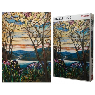 Tiffany puzzle - Magnolias and Irises