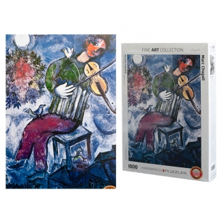 Marc Chagall puzzle - The blue violinist