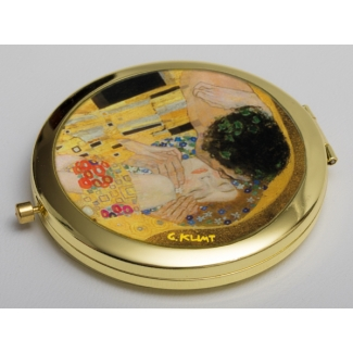 Gustav Klimt compact mirror : The kiss