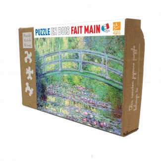 Claude Monet Wooden Puzzle for kids : The Japanese Bridge of Giverny